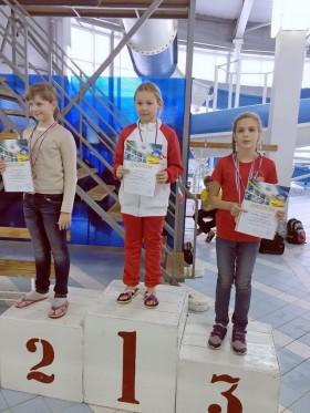 Григоренко Александра - 3 место 50 м, вольный стиль