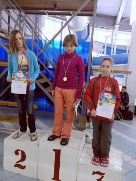Колесникова Елизавета - 3 место 100м, комплексное плавание