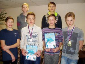Команда призеров в эстафетном плавании