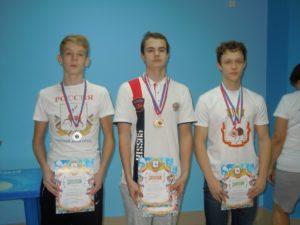 Победители на 200м Захаров Д., Бородин Н., Макушев Е.