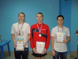 Победители на дистанции 800м Реушкин И., Бажанов В., Краснов Д.