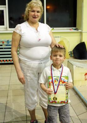 Бобык Артем с тренером