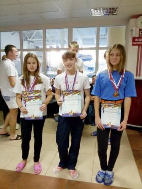 Победители на 800м Борисова А. и Гурьева С.