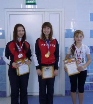 Новикова Екатерина (справа)  - бронза на дистанции в 200м