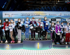 Поздравляем победительницу Всероссийских соревнований по плаванию 'Весёлый дельфин — 2020' Милену Китаеву!