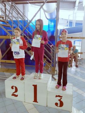 Григоренко Александра - 3 место 50м, спина
