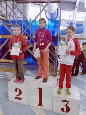 Колесникова Елизавета - 2 место 100м, вольный стиль