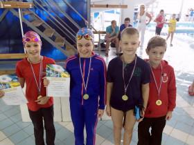 Команда СДЮСШОР Дельфин - 1 место эстафета 4х50м, вольный стиль, 2007 г.р