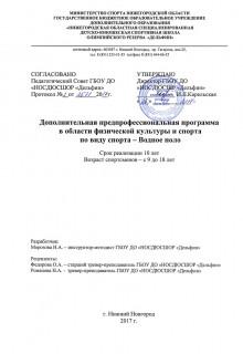 Доп.программа - Водное поло