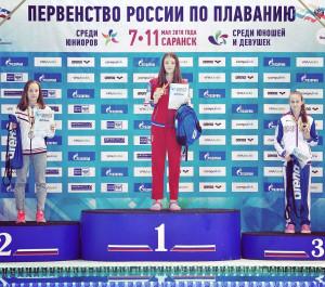 3 место Добровольская Екатерина - 400м комплекс