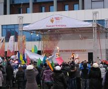 Встреча олимпийского огня 2014 в Нижнем Новгороде